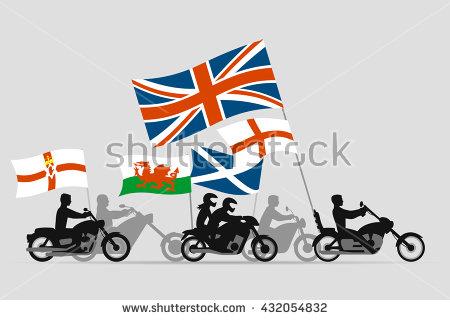 Biker Patriotic Stock Photos, Royalty.