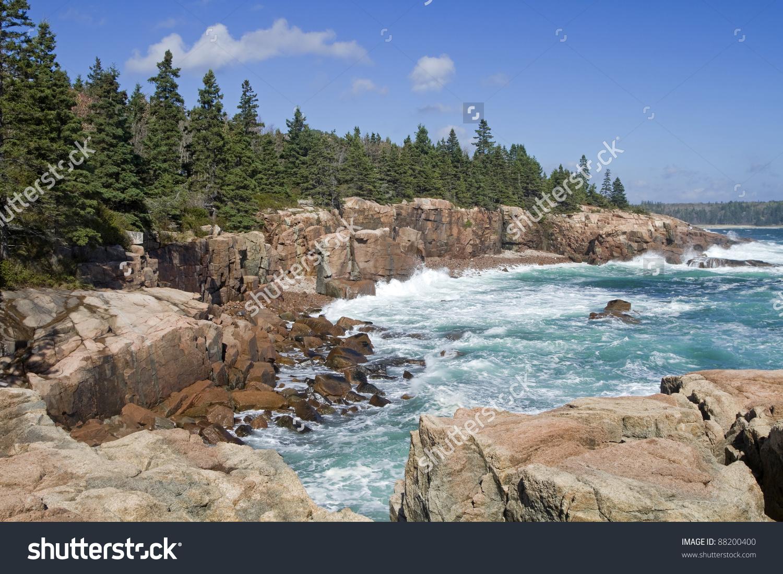 Thunder Hole Acadia National Park Maine Stock Photo 88200400.