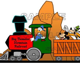 Items similar to Disney World Magic Kingdom Mountain Trio.