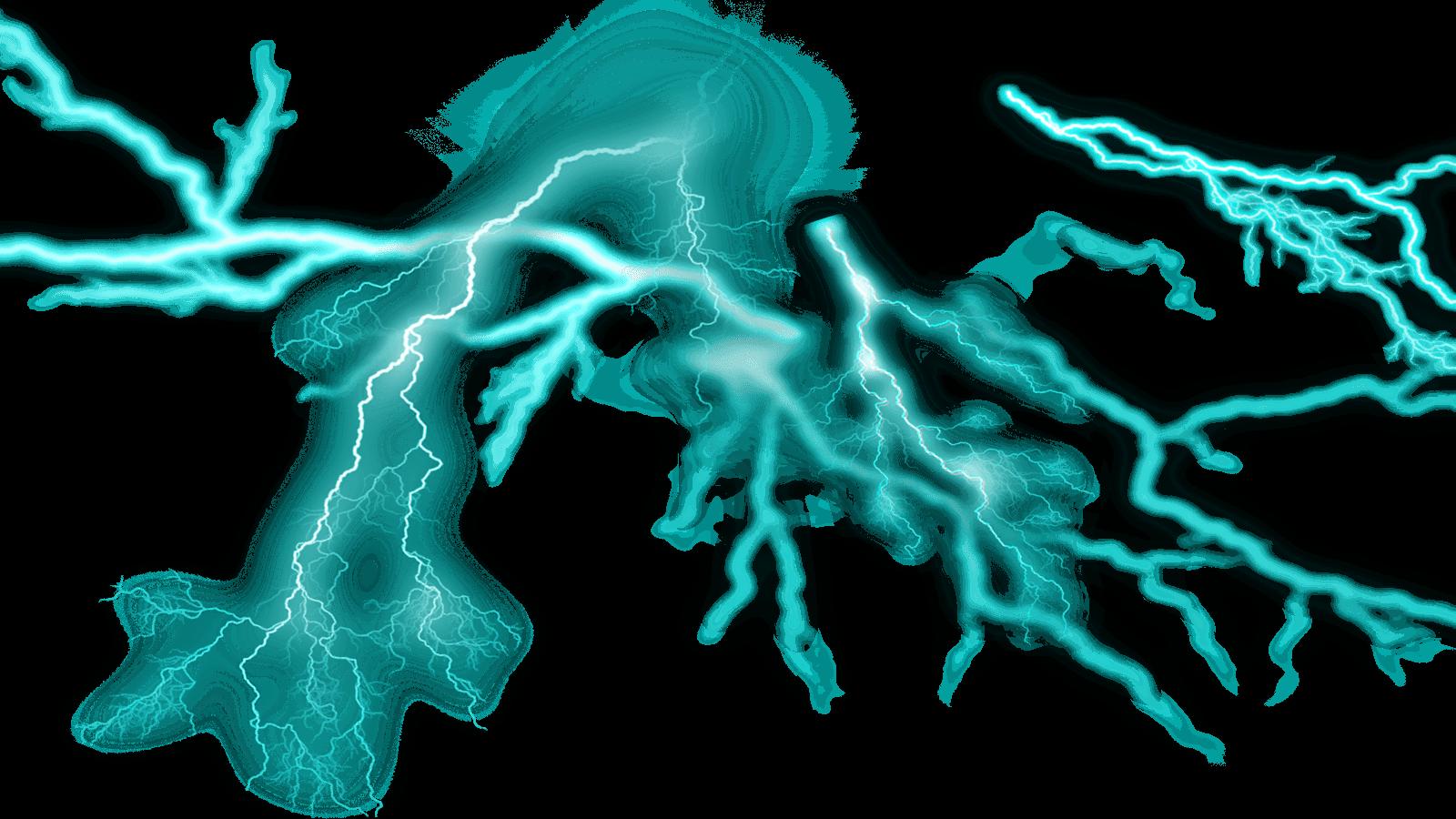 Thunder transparent PNG.