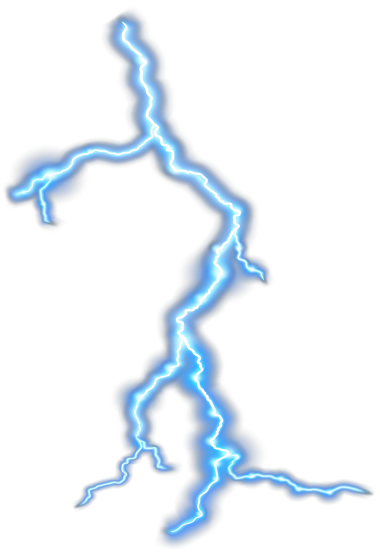 Thunder Transparent PNG Clip Art Image.