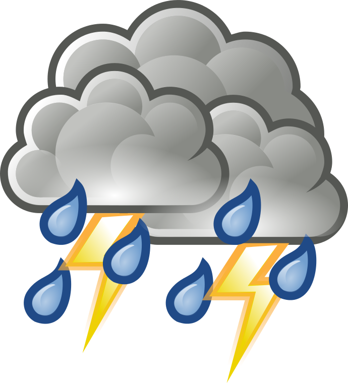 Thunderstorm Clipart.