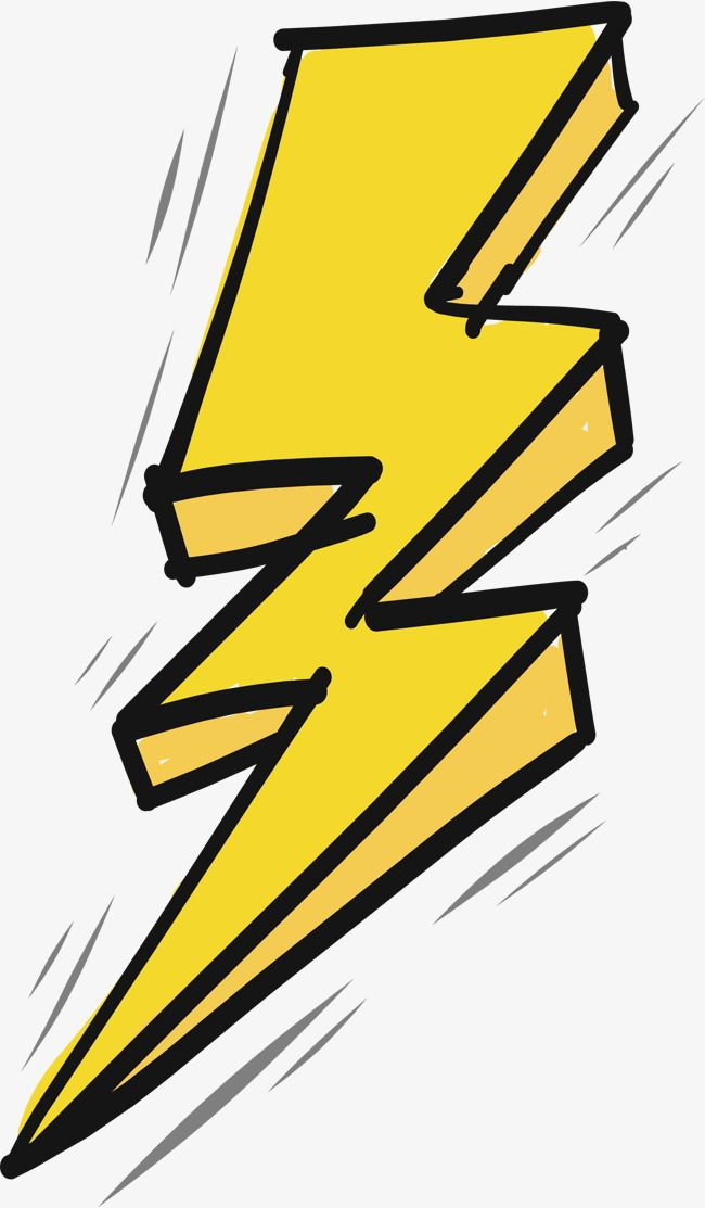 Thunder And Lightning Effect, Vector Png, Yellow Lightning.