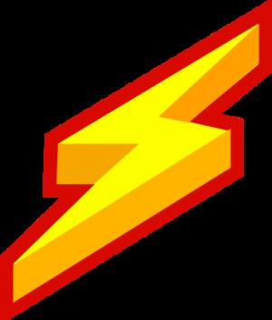 Thunder lightning bolt vector clip art.