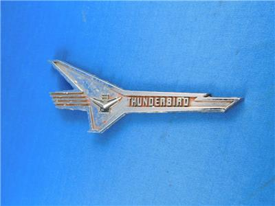 Details about FORD THUNDERBIRD CAR EMBLEM BADGE ADVERTISING 16220A.
