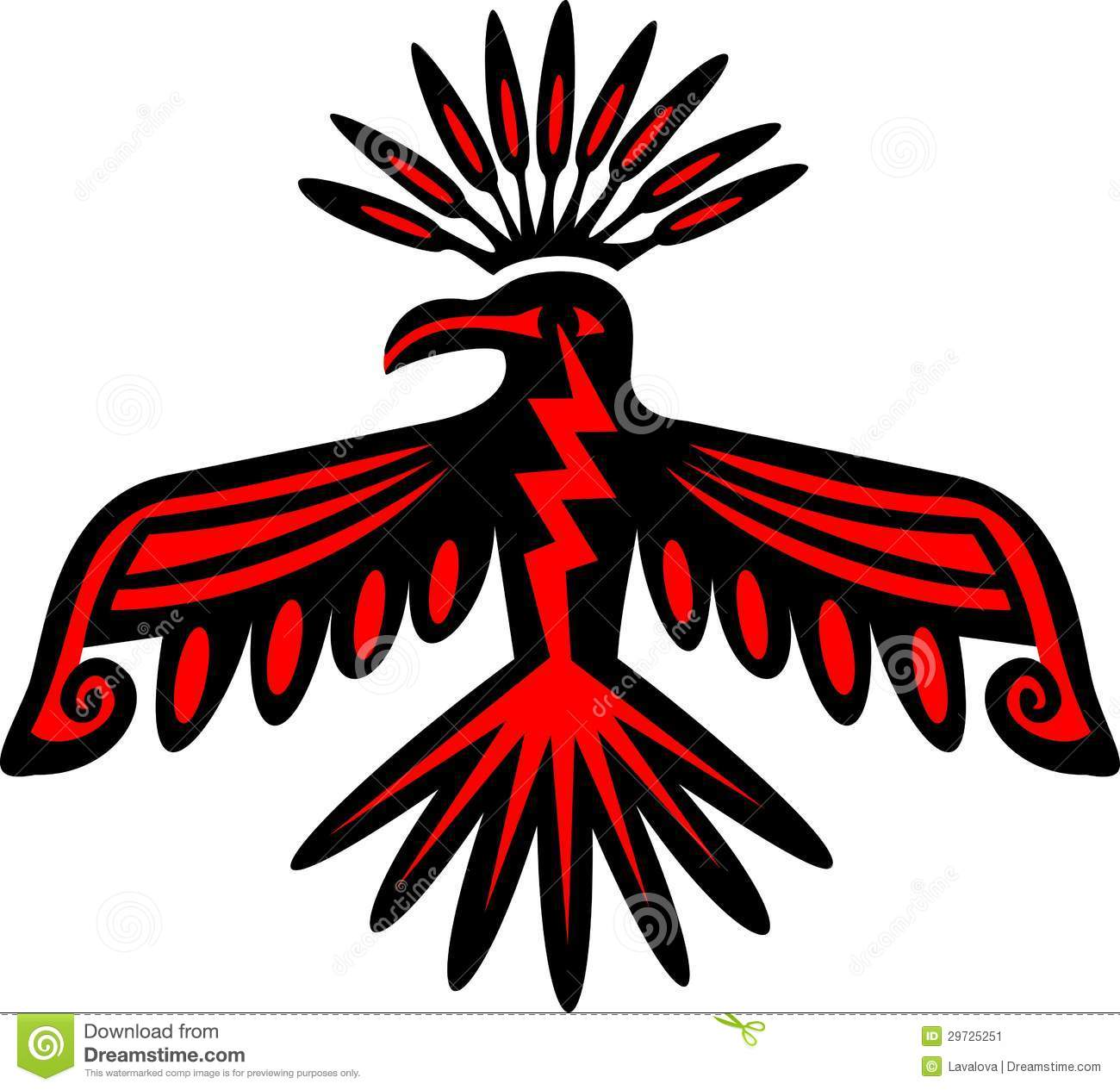 Native american thunderbird clipart.