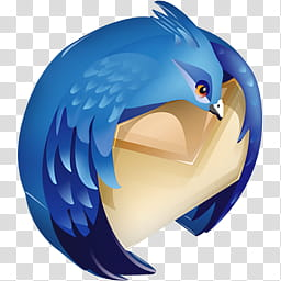 SoftDimension icon pack, Thunderbird transparent background.