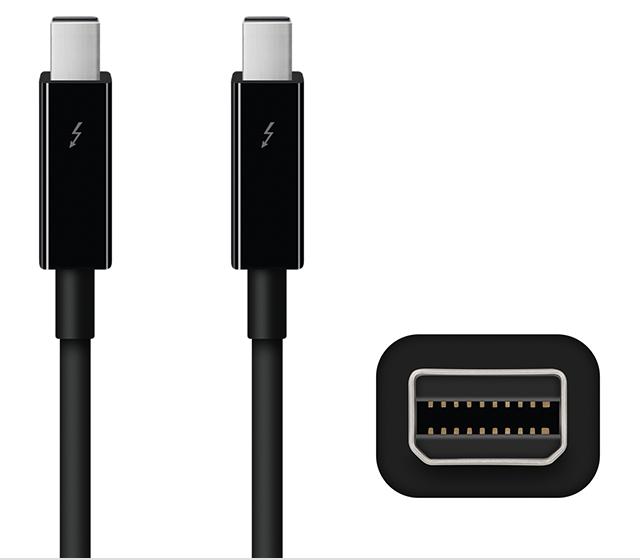 Apple Thunderbolt cables and adapters.