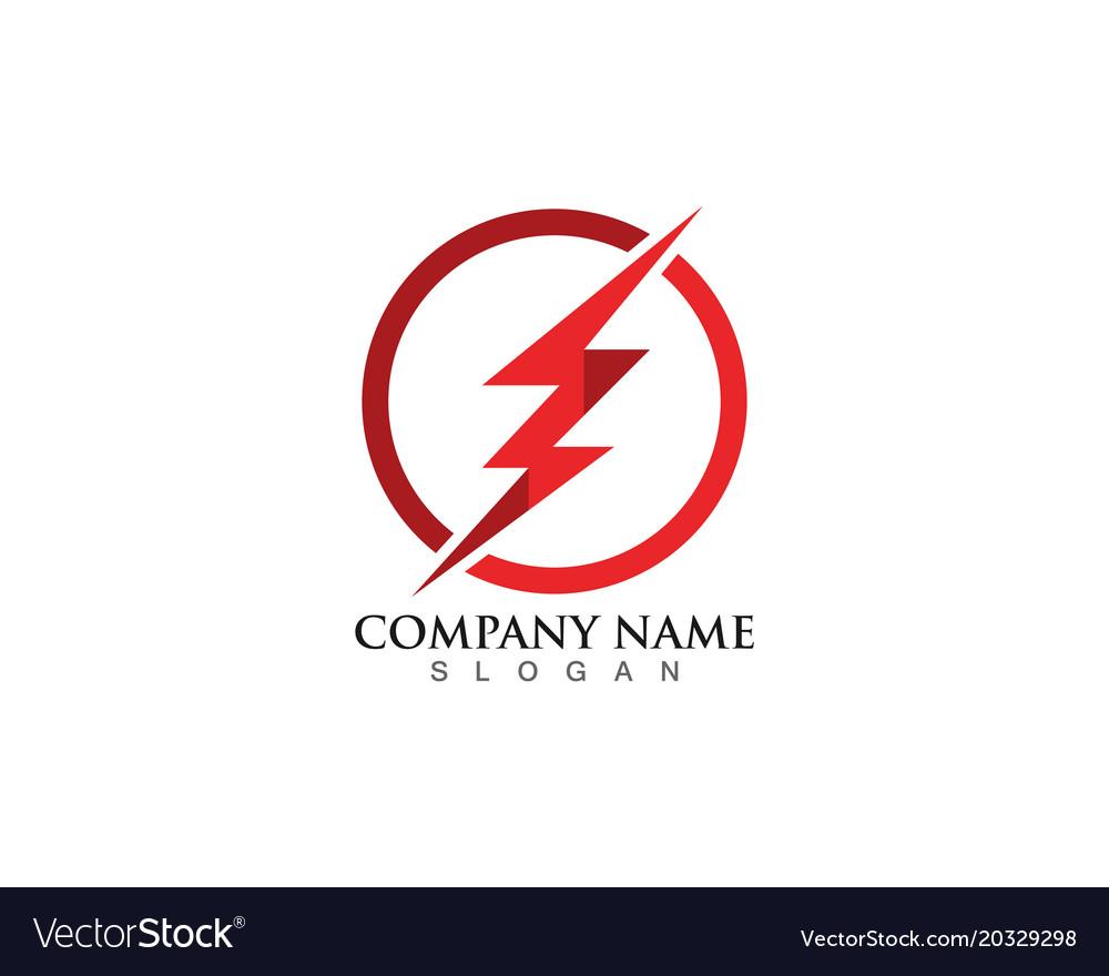 Flash thunderbolt logo template.