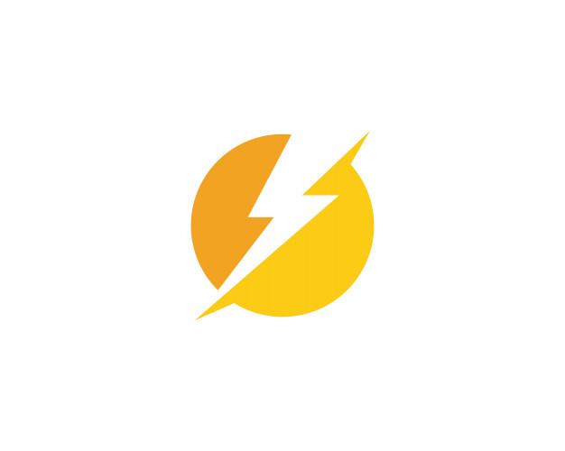 Lightning thunderbolt logo Vector.