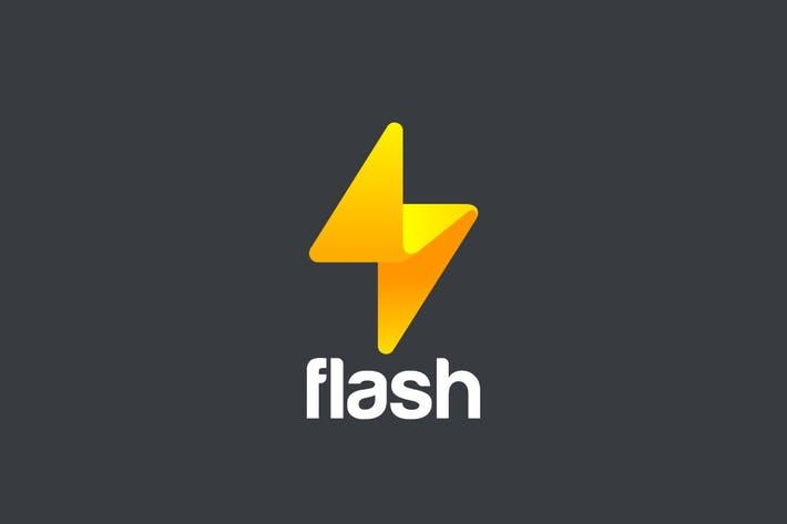 Logo Flash Thunderbolt Energy Power Speed by Sentavio on Envato Elements.