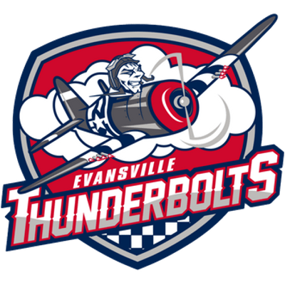 Evansville Thunderbolts Logo transparent PNG.