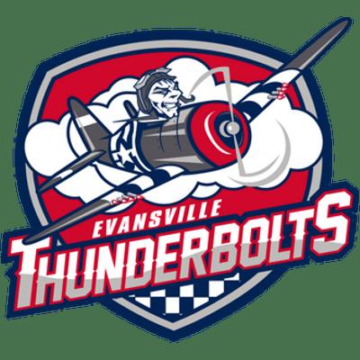 Evansville Thunderbolts Logo transparent PNG.