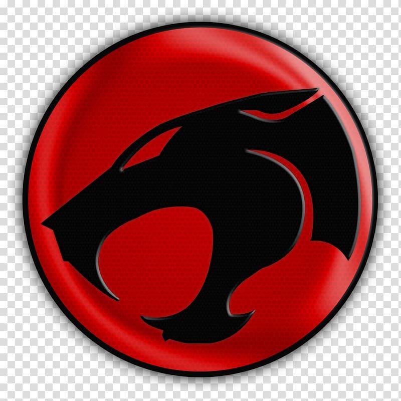 Black and red Panther logo illustration, ThunderCats Logo.