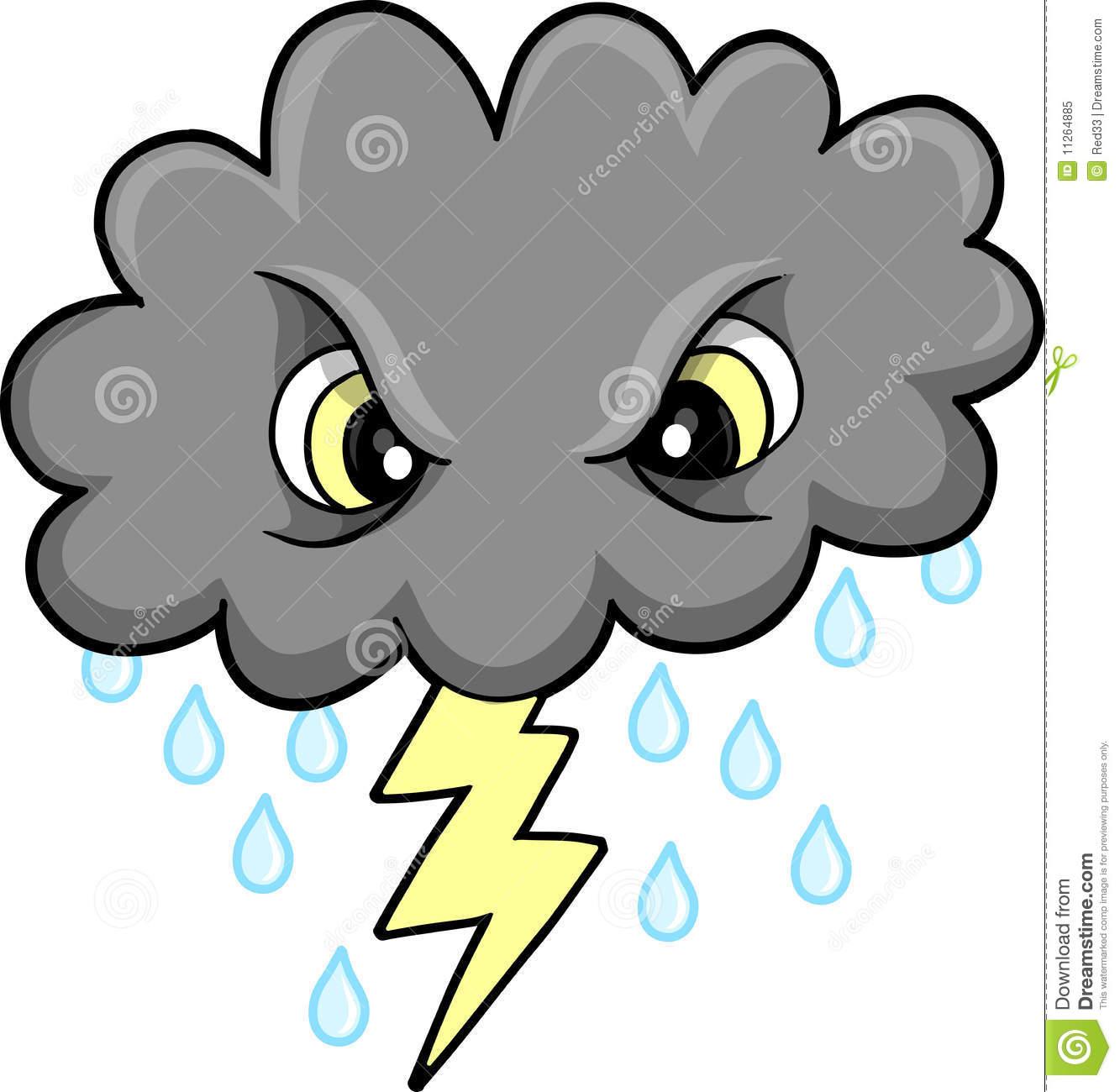 Thundercloud Clip Art.