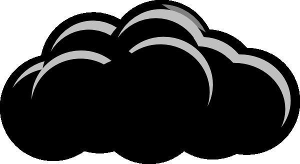 Light Grey Thunder Cloud Clip Art at Clker.com.