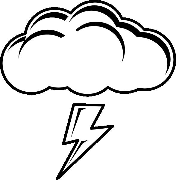 Thundercloud Bw Clip Art at Clker.com.