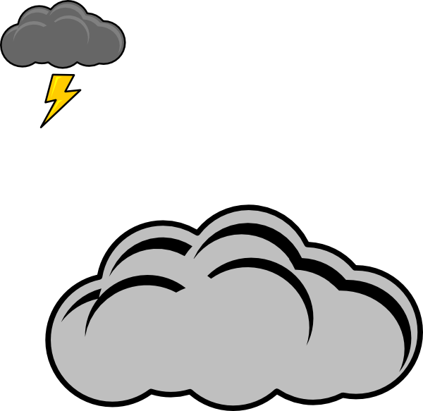 Thunder Cloud Clip Art at Clker.com.