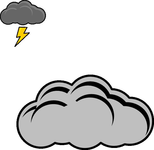 Thunder Cloud Clip Art at Clker.com.