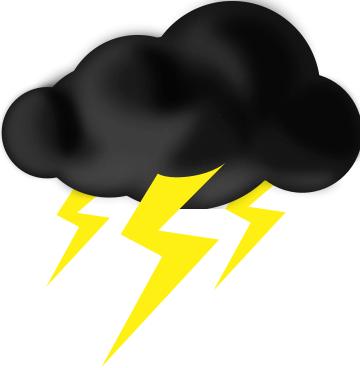 Thunderstorm Cloud Clipart.