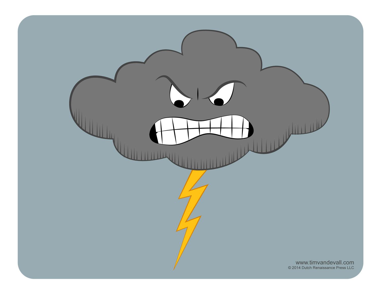 Thundering Cloud Clip Art.