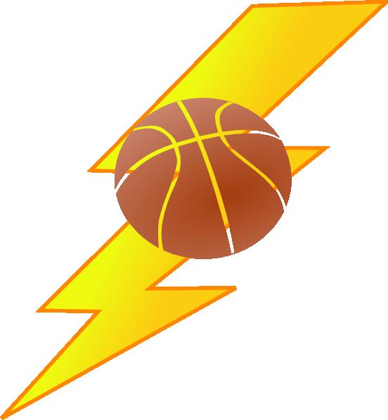 Thunder Basketball Clip Art.