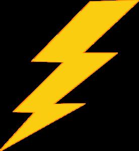 Thunder Bolt Plain Clip Art at Clker.com.