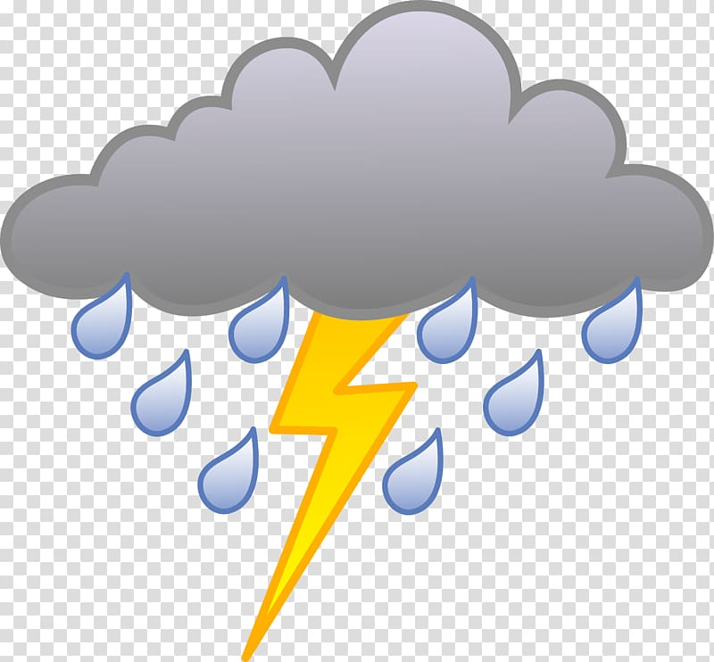 Thunderstorm Rain , Cloudy Weather For Kids transparent.