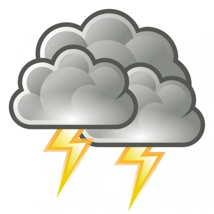 Thunderstorm clipart free.