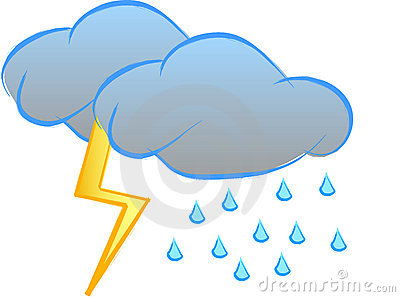 Thunderstorm Clipart Page 1.
