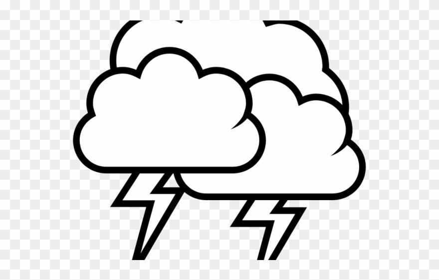 Lightning Clipart Stormy Sky.