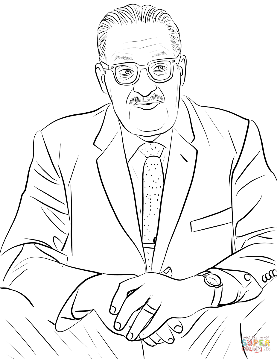 Thurgood Marshall coloring page.