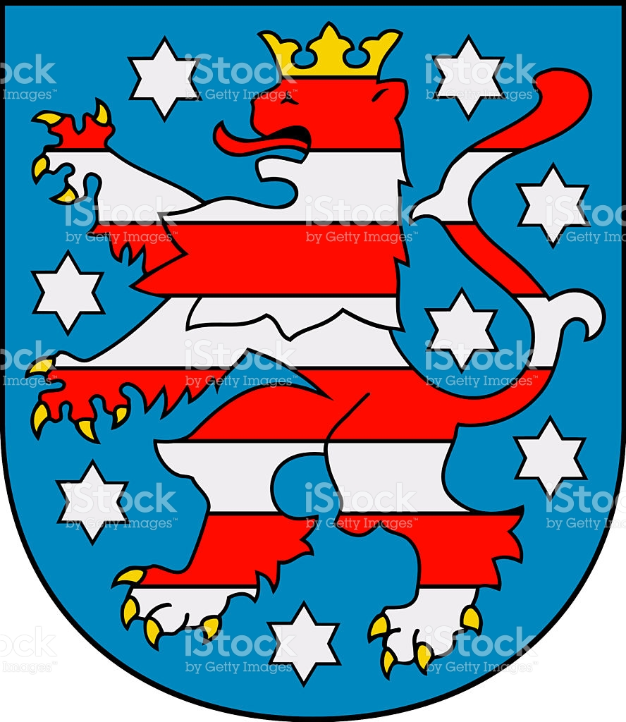 Coat Of Arms Of Thuringia Germany stock vector art 496819120.