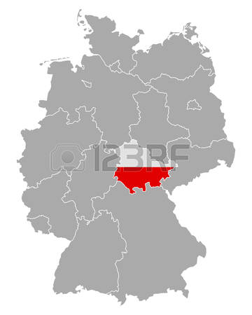 381 Thuringia Map Stock Vector Illustration And Royalty Free.