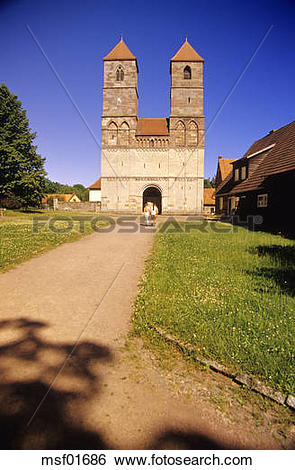 Stock Images of Cloister Vessra, curch St. Marien, Thuringia.