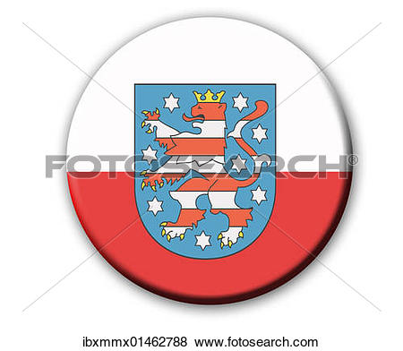 """Pictures of """"Coat of arms of the state Thuringia, Germany, Europe."""
