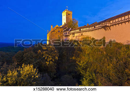 Stock Photography of View of Wartburg castle, Thuringia, Germany.