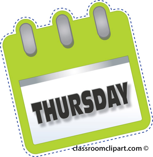 Thursday Pictures, Clip Art, Thursday Free Clipart.