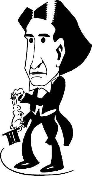 Magician Howard Thurston clip art Free vector in Open office.