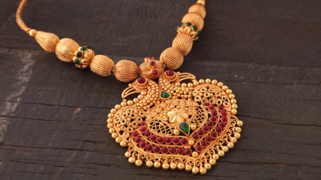 Gold Thushi Designs With Price.