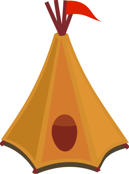 Cartoon Tipi Tent With Red Flag Clip Art at Clker.com.