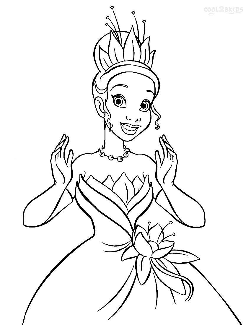 Disney Princess Coloring Pages Tiana.