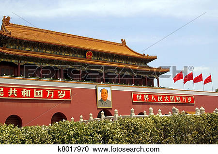 Stock Photography of Tiananmen square in Beijing, China k8017970.