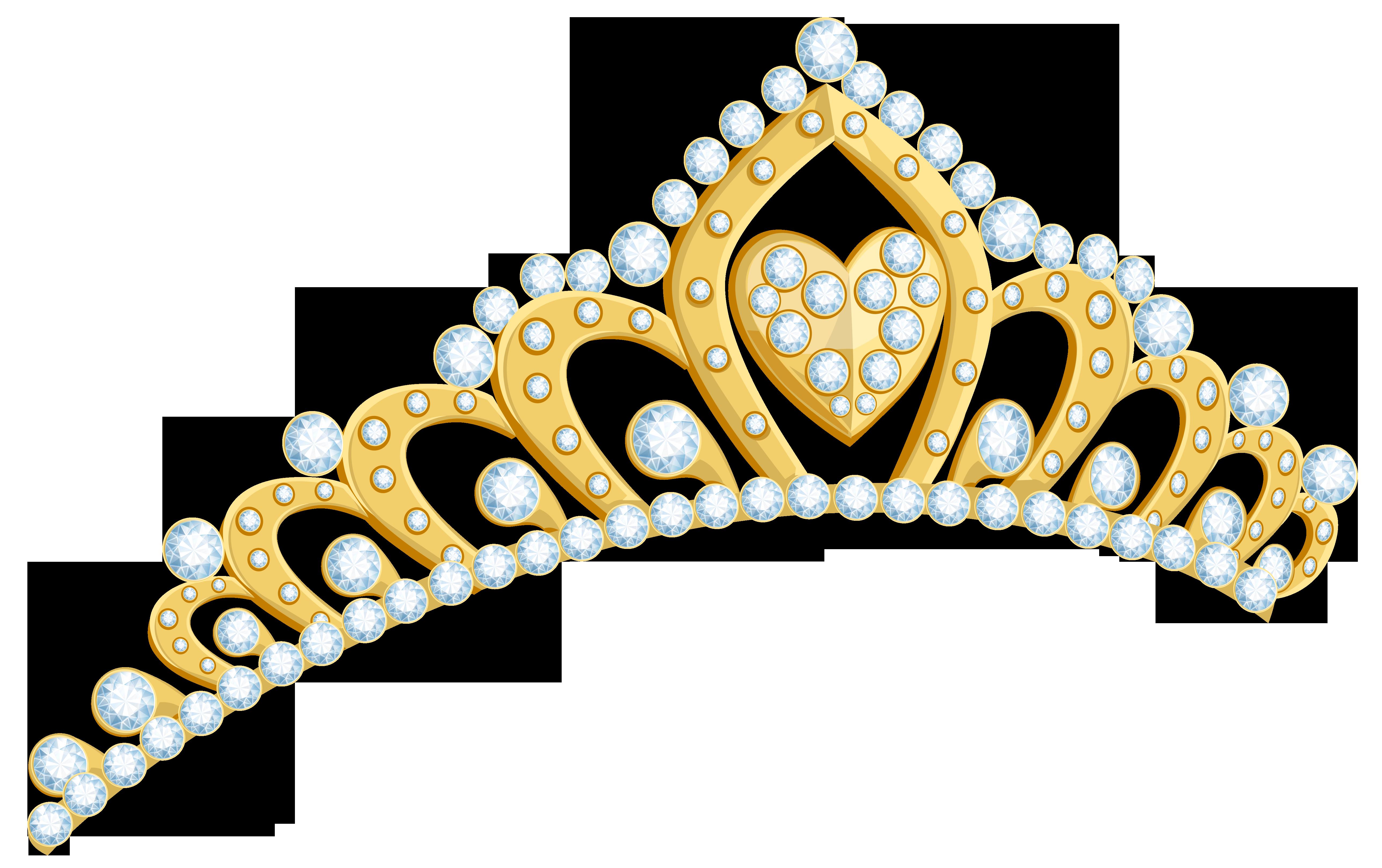 Golden Tiara PNG Clipart Image.