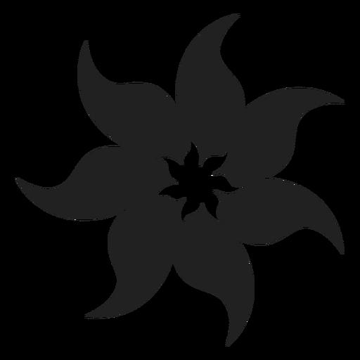 Tahitian tiare foam flower icon.