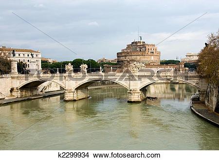 Stock Photo of Tiber River, Rome, Italy k2299934.