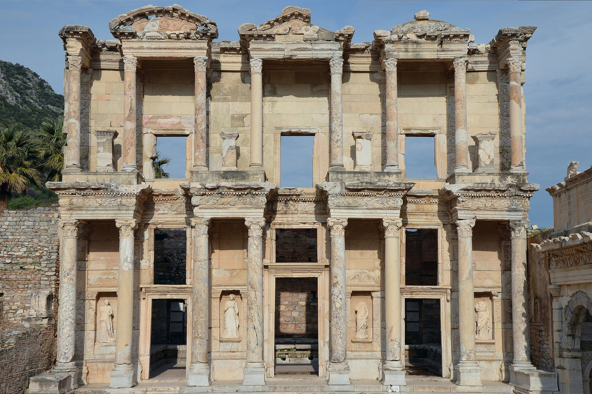 The Library of Celsus at Ephesus (Illustration).