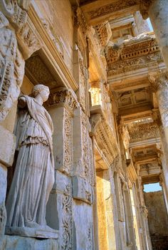 Ephesus, Library of Celsus in the 2nd century AD. This.