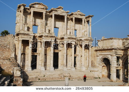 Celsus Library Stock Photos, Royalty.