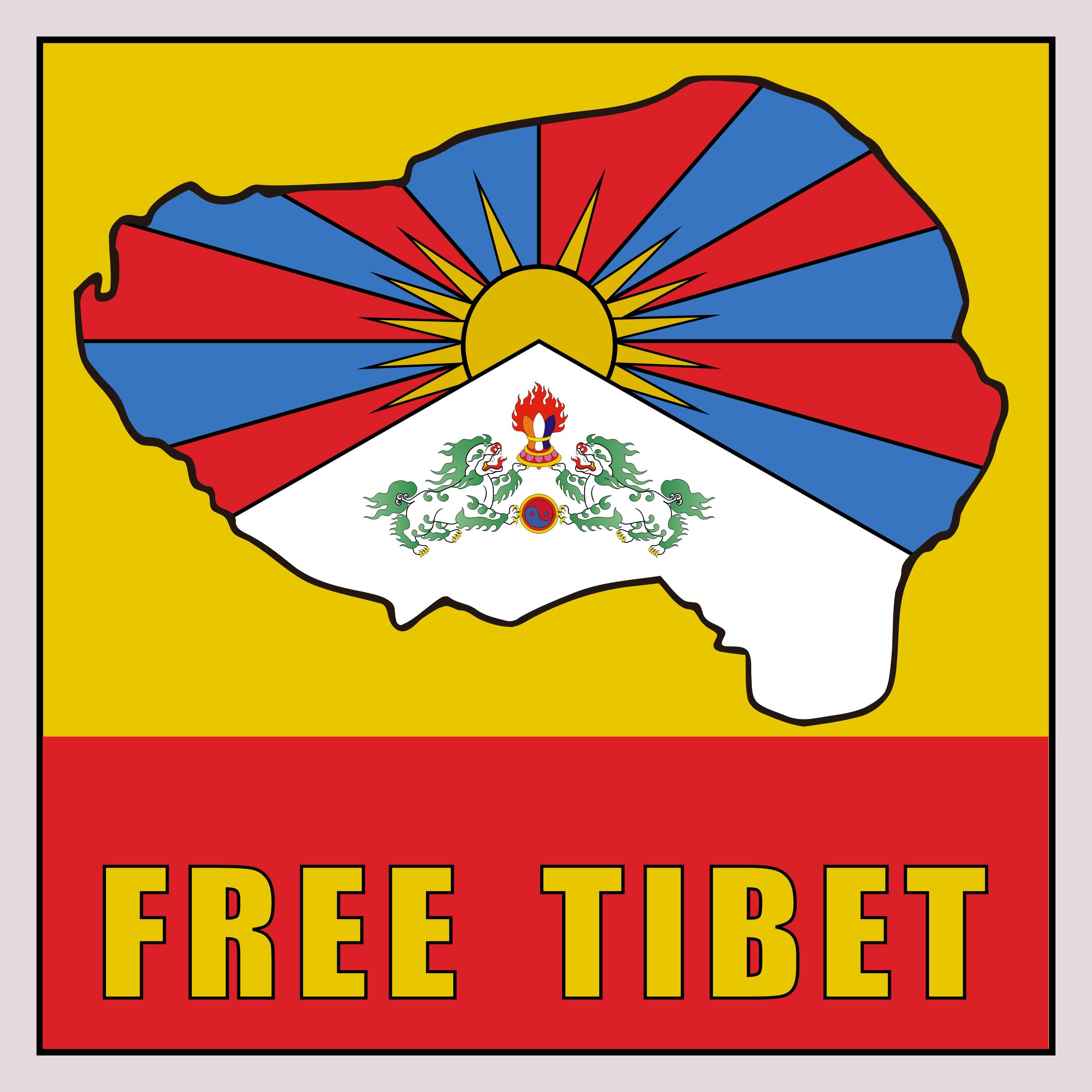 Free Tibet Poster Vector Clipart.